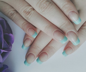 gel, manicure, and mint image