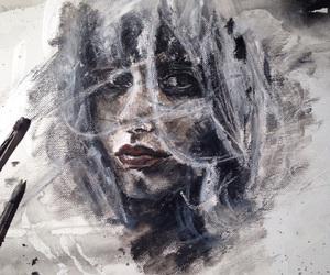 acrylic, art, and pastels image