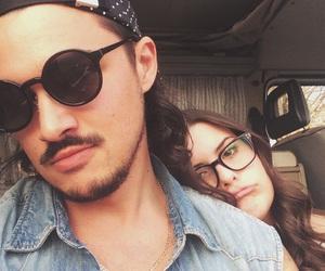 boyfriend, gold, and sunglasses image