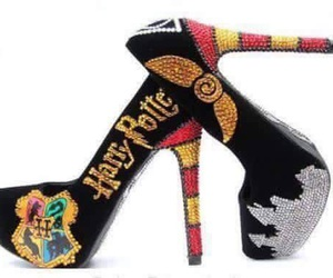 harry potter, heels, and fashion image