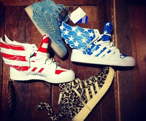 shoes, adidas, and wings image
