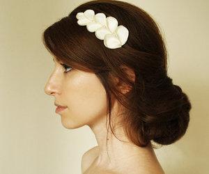 bun, flowers, and girl image