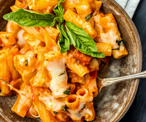 cheese, food porn, and pasta image