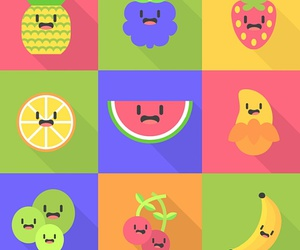 background, cartoon, and fruit image