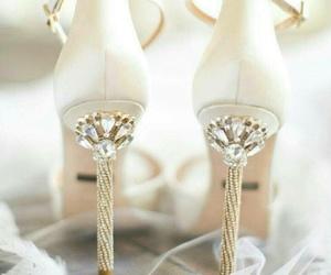 shoes, heels, and wedding image