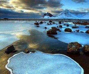 iceland, landscape, and nature image