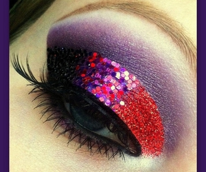 makeup, glitter, and pretty image