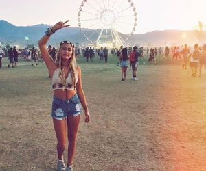 braid, coachella, and fashion image