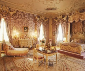 room, bedroom, and gold image