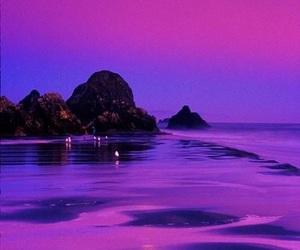 purple, sky, and ocean image