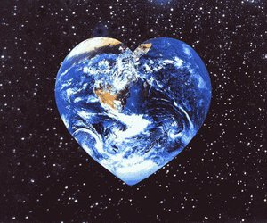 heart, earth, and world image