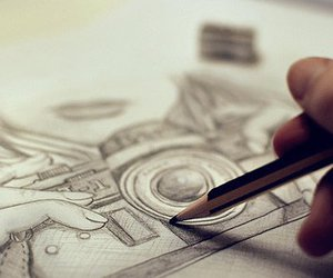 camera, drawing, and photography image