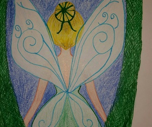 art, drawing, and tinkerbell image