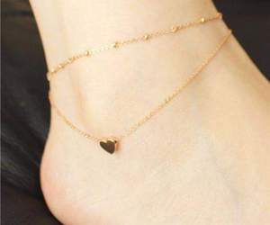 accessories, heart, and anklet image