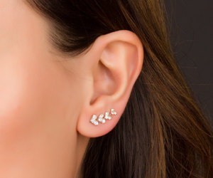 ear climbers, cuff earrings, and ear pins image