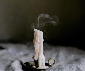 candle, smoke, and aesthetic image