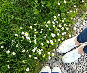 flowers, shoes, and spring image