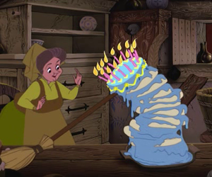 disney, sleeping beauty, and cake image