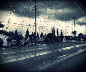 black & white, bus, and cloudy image