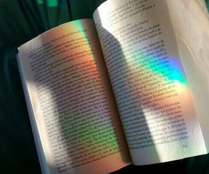 rainbow, book, and beautiful image