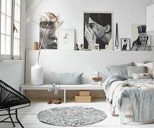 bedroom, interior, and living image