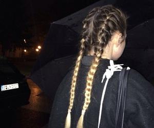 girl, tumblr, and braid image