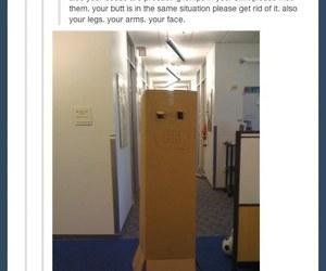 funny, tumblr, and box image