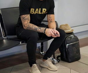 airport, men, and style image