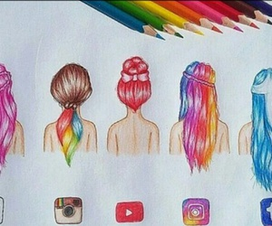 hair, we heart it, and youtube image