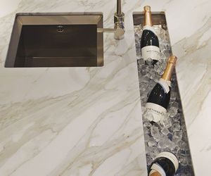 luxury, champagne, and kitchen image