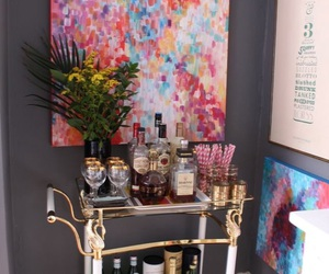 home decor, interior design, and bar cart image