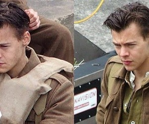 dunkirk, harry hair, and Harry Styles image