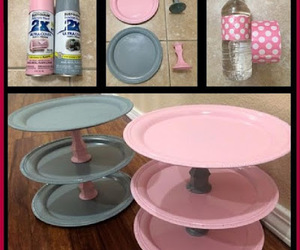 party decor, dollar store crafts, and diy cupcake stand image