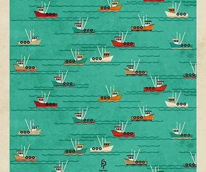 boats, pattern, and boat art image