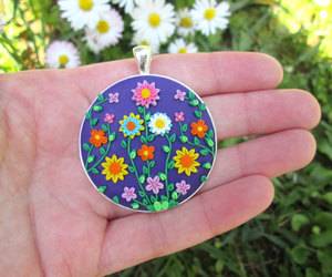accessories, floral necklace, and flowers image