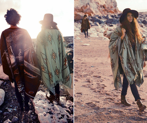 bohemian hippy and beach and ponchos image