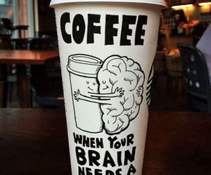 coffee, brain, and hug image