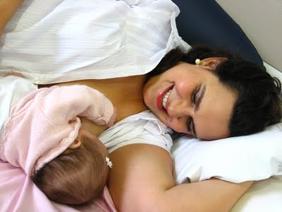 baby, mother, and breastfeed image
