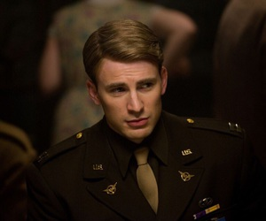 chris evans, captain america, and steve rogers image