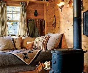 home, cabin, and cozy image
