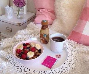 starbucks, breakfast, and fruit image