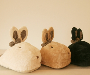 bunny, rabbit, and slipers image