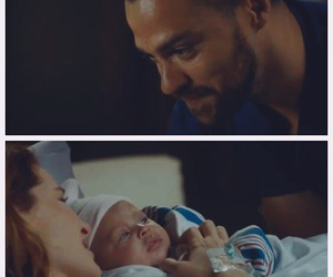 jackson avery, april kepner, and baby japril image