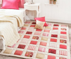 bedroom, floral, and patchwork image