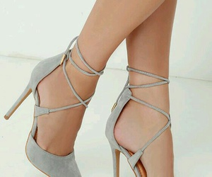 gray, heels, and shoes image