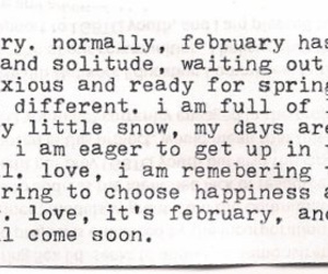 february, happiness, and typewriter image