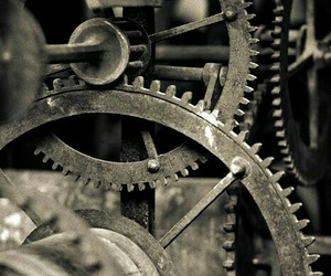 gear and machine image
