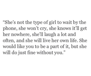 quotes and girl image