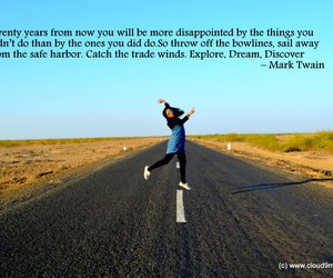 mark twain, quote, and travel image