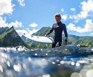summer, surfing, and waves image